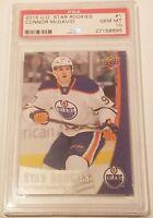 Connor McDavid ROOKIE PSA 10 Edmonton Oilers 2015 UD Star Rookies #1