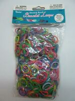 Loom Loop Stretch Bands Multi-color 1000 pcs Sealed bags with 36 S clips NEW