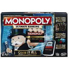 Monopoly Ultimate Banking Edition Modern Childrens Kids Family Fun Board Game