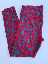 Brand New Lularoe Deep Fuscia Pink And  Blue Paisley TC Leggings