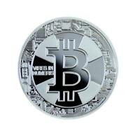 NEW  Silver Plated Commemorative Bitcoin Collectible Golden Iron Miner Coins