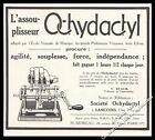 Publicité Assouplisseur de doigts Piano Instrument de Musique Sancoins Gers 1926