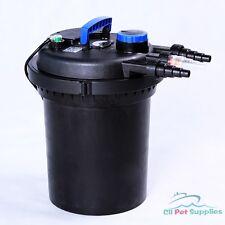 3000 Gal Pressure Pond Filter w/ 13W UV Sterilizer Koi Fish Easy Backwash