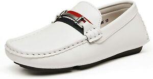 Bruno Marc Boys Formal Dress Shoes Comfortable Slip on Loafer Shoes