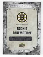 CALLUM BOOTH BOSTON BRUINS 2020-21 UPPER DECK ARTIFACTS ROOKIE REDEMPTION