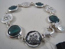 Jones New York silver tone~abalone stone bracelet, NWT