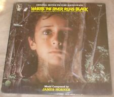 WHERE THE RIVER RUNS BLACK (James Horner) rare original sealed stereo lp (1986)