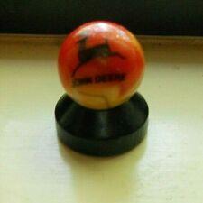 "15/16"" John Deere Orange & Yellow Swirl Shooter Marble"