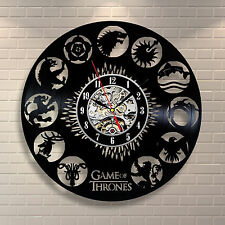 Game of Thrones Clans HBO_Exclusive wall clock made of vinyl record_GIFT