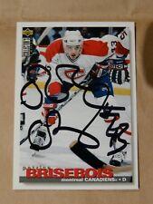Patrice Brisebois Montreal Canadiens autographed card #2