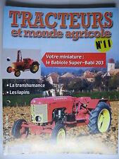FASCICULE 11 TRACTEURS ET MONDE AGRICOLE BABIOLE SUPER BABI CIJ RENAULT 3040