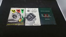 Vintage Camera Manuals Lot Prontor - SVS Realist 35 GE Exposure Meter