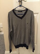 JUNK DE LUXE V NECK JUMPER / NEW / SIZE LARGE / TWEED STYLE /  GREAT FIT