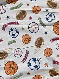 Vintage CIRCO Full Sheets Set ALL SPORTS Football Basketball 4 Pieces ❤️sj7m20