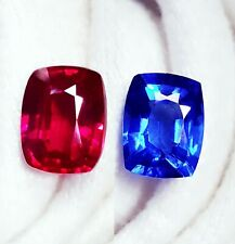 Natural Loose Gemstone 8 to 10 Cts Certified Blue Sapphire & Ruby Pairs Z165