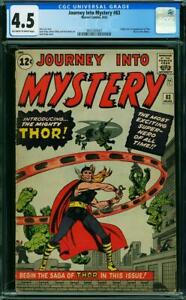 Journey Into Mystery 83 CGC 4.5  1st Thor ow/w pages!