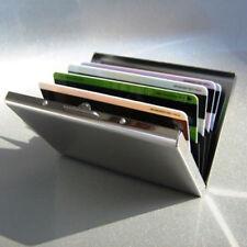 Mens Stainless Steel Pocket Credit ID Card Mini Wallet Holder Pocket Case Box R