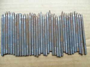 WATCHMAKERS TOOLS 35 + STAKES ASSORTED ENDS MANY W/ NUMBERS NEED A GOOD CLEANING