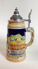 BUSCH GARDENS LIDDED STEIN BY A. J. THEWALT HAND PAINTED MADE IN GERMANY