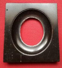 Exceptionnel petit cadre rectangulaire pour miniature ovale, ébène ?, XIXème