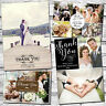 10 Personalised Wedding Thank You Cards With Envelopes & Photos Folded Postcard
