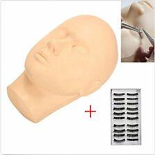 Mannequin Flat Head w/ False Eyelash & Tweezer for Training Eyelash Extension