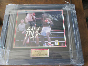 Framed Mike Tyson and Buster Douglas Autographed / Signed 8 x 10