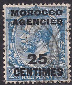 Morocco Agencies 1917 - 24 KGV 25cms on 2 1/2d Blue used  SG 195 ( D1396 )