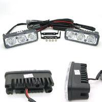12V 3 LED White High Power Car DRL Daytime Running Light Fog Lamp Universal mh