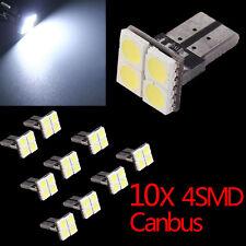 10pcs CANBUS ERROR FREE LED White T10 168 194 W5W Wedge 4 SMD 5050 Light Bulb