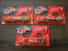 VTG OLD FULL SET 3 RARE COCA COLA CHRISTMAS LORRY TRUCK PROMO LIMITED GERMANY