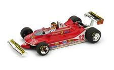"Ferrari 312 T4 #12 G.Villeneuve ""2nd GP France"" 1979 (w. driver) (1:43/ R512-CH)"