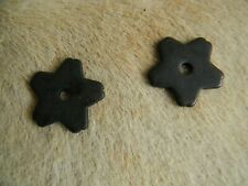 """Brown Steel Replacement Western Spur Rowels Blunt End Star 5 Point 1 1/4"""" Size"""