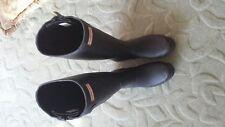 Hunter Original Tall Black Rubber Rain Boots Women's Size 7 M