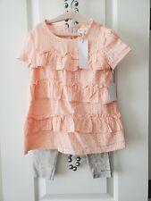 Girls 5 Peach & Grey BCBG Pants Set, NWT