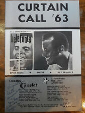 1963 PLAYBILL HARRY BELAFONTE CURTAIN CALL SEATTLE OPERA HOUSE R CHARLES 00058