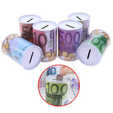 1pc Euro Dollar Money Box Safe Cylinder Piggy Bank Banks For Coins Deposit x od