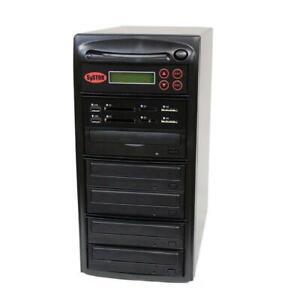 SySTOR 1-4 MultiMedia PLUS-Flash Memory Drive to Disc Backup+Blu-ray Duplicator