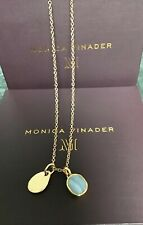 """Monica Vinader Rose Gold Necklace 24"""" & 2 Charms New"""