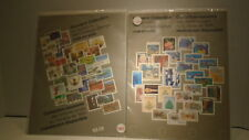 Canada souvenir stamps 7 sets.1978-79-80-81-84-85-86 all complete