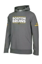 NWT Boston Bruins adidas Authentic NHL Hockey Squad Pullover Hoody Large L NEW