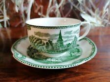 JOHNSON BROS England OLD BRITAIN CASTLES grün -schöne Kaffeetasse mit Untertasse