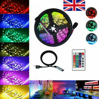 LED STRIP LIGHTS 5050 RGB COLOUR CHANGING TAPE UNDER CABINET KITCHEN LIGHTINGs