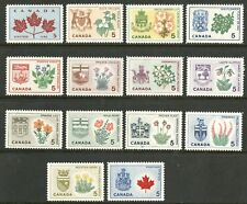 Canada   1964-66   Unitrade # 417-429a   Mint Never Hinged Set