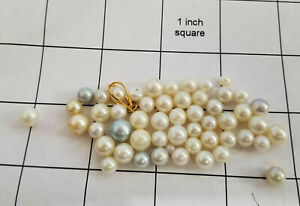 50 Loose Cultured Pearls 2 drilled  1 half round drilled 1 baled 24 grams Lot