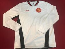 Manchester United FC Authentic Soccer Football Long Sleeve Jersey Shirt. Size M