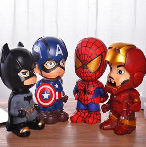 Kids Girls Boys Superhero Saving Pot Piggy Bank Coin Money Boxes Birthday Gifts