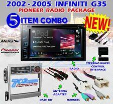 METRA 95-7605 2005-2007 INFINITY G35 COUPE 2005-06 SEDAN + PIONEER AVH-291BT