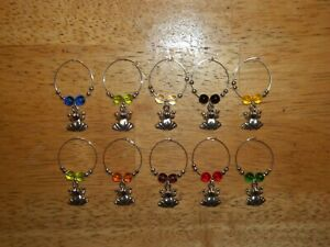 FROG Wine Glass Charms Marker set of 10