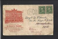 "UTICA,NEW YORK,1898,#279 FLAG CANCEL,ILLUST ADVT COVER, ""THE SATURDAY GLOBE""."